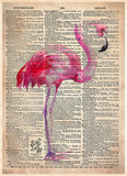 Watercolor Flamingo art print, Flamingo Bird art, print 2