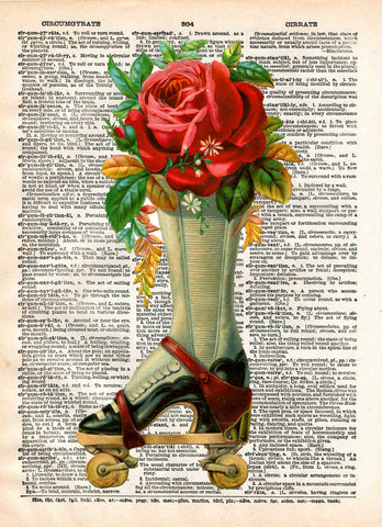 French advertising, roller derby art, vintage rollerskates art -  - 1