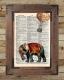 Steampunk elephant, elephant art print, oddities art -  - 2