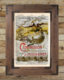 Musical theatre poster, Cinderella Opera poster 1899, vintage dictionary page book art print -  - 2