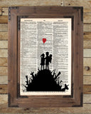 Banksy Children on guns art, revolution street art , vintage dictionary page book art -  - 2