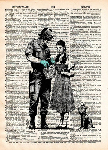 Banksy Dorothy, not in Kansas anymore, street art, vintage dictionary page book art print -  - 1
