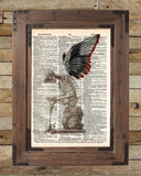 Fallen Angel art, skeleton art print, skeleton wings, dark art -  - 2