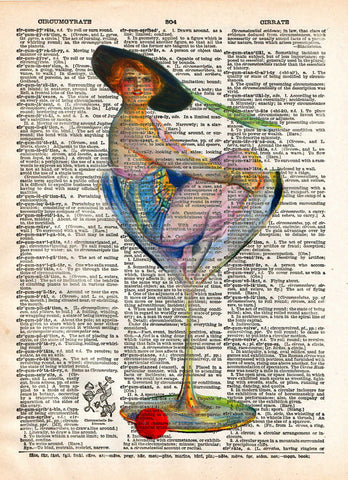Cool Bar art, Girl in martini glass, Lovely Cocktail Girl, early 1900's illustration,  vintage dictionary page book art print -  - 1