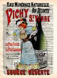 Vintage ad, French lady advertisement, 1896 vintage dictionary page book art print -  - 1