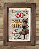 Vintage showgirls saloon sign, wild west saloon sign, burlesque art poster -  - 2