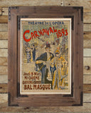 Carnaval Masquerade ball poster 1893, vintage opera art, Theatre sign, vintage dictionary art print -  - 2