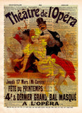 Vintage Opera print, vintage advertising, Theatre de L'Opera Theatre sign, vintage dictionary art print -  - 1