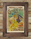 Theatre poster, unique wall art, Carnaval Opera poster 1892, masquerade ball,  vintage dictionary art print -  - 2