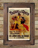 Vintage Opera print, vintage advertising, Theatre de L'Opera Theatre sign, vintage dictionary art print -  - 2