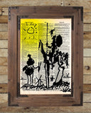 Don Quixote Print, Picasso drawing, vintage dictionary art print -  - 2