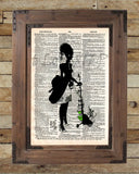 Absinthe art, Creepy victorian absinthe lady, dictionary page art print -  - 2