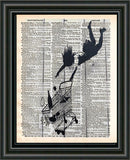 Banksy, falling woman, Trolley, Banksy wall art, vintage dictionary art -  - 2