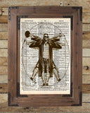 Big Lebowski art, Vitruvian Dude, The Dude art print, Dictionary print art -  - 2