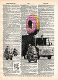 Banksy donut police, banksy wall art, dictionary art -  - 1