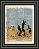 Trolley hunters, Banksy wall art, dictionary page art print -  - 2