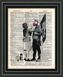 Punk Mum banksy art, punk mom anarchy print, dictionary art print, wall art -  - 2