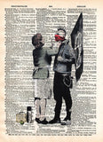 Punk Mum banksy art, punk mom anarchy print, dictionary art print, wall art -  - 1