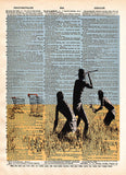 Trolley hunters, Banksy wall art, dictionary page art print -  - 1