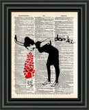 Lovesick Banksy art print, Love sick print, girl with hearts,  dictionary art print -  - 2
