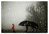 Red riding hood art, Brothers Grimm art, series of 3 prints -  - 4