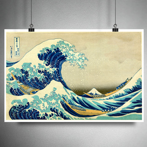 The great wave off Kanagawa, the great wave art print, japanese artwork, japanese wall decor