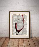 Red wine splash art, red wine pour, pour yourself some wine, cocktail art -  - 1