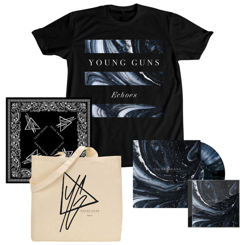 Echoes T-Shirt + Music + Tote Bag + Bandana Bundle