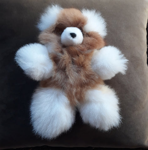 "10"" ""Chico"" Alpaca Teddy Bear - Mixed Colored"
