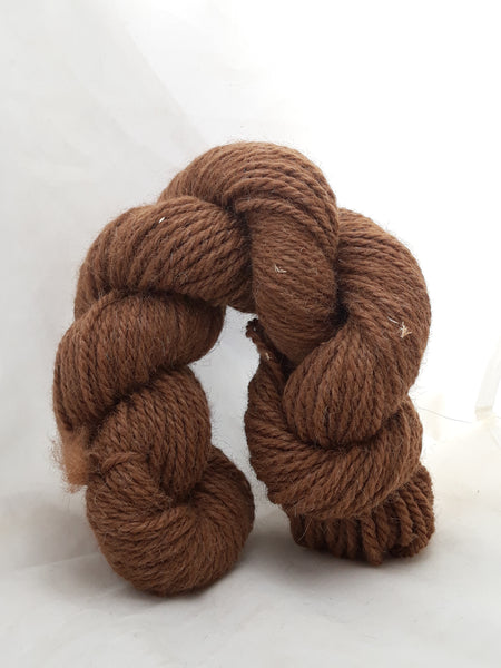 3 ply worsted 100% brown alpaca