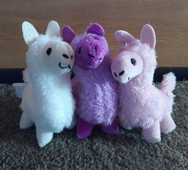 One Mini Plush Alpaca - Various Colors