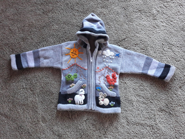 Toddler Hooded Cardigan/Sweater