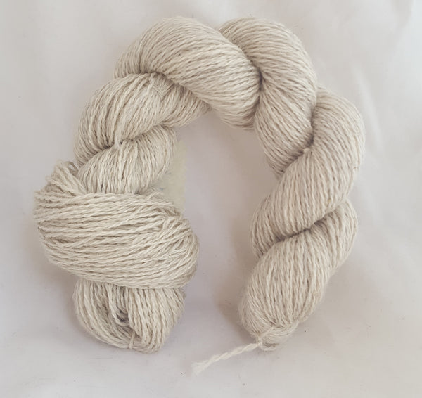 2 ply fingering Clun Forest Wool, Alpaca & Silk
