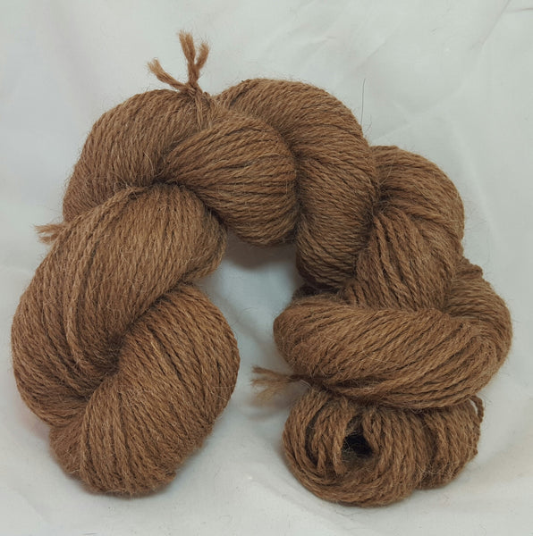 Brown 3-ply Sport. 100% alpaca