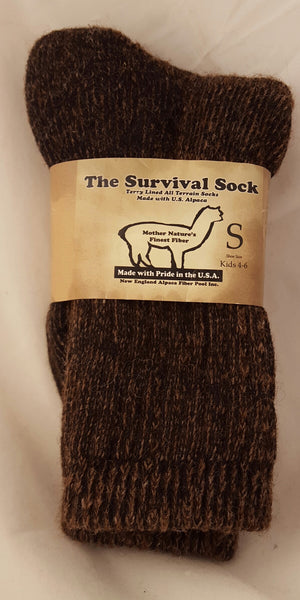 Survival Sock (Brown. Small.)