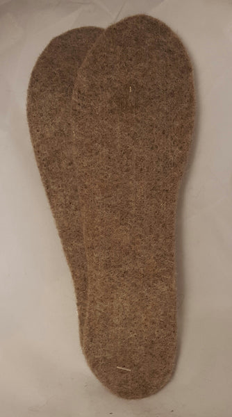Felted Shoe Inserts (Light Brown. Small.)