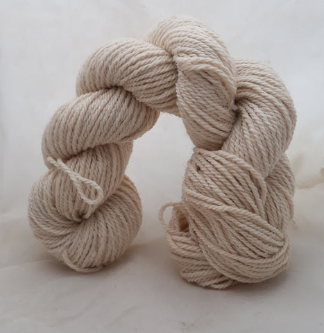 100% Alpaca 3 ply Sport Yarn - White