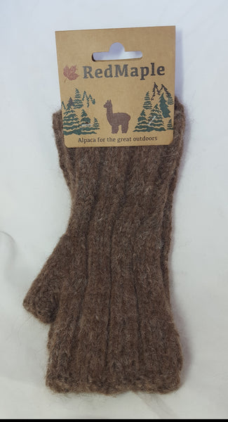 Fingerless Gloves - Brown Heather