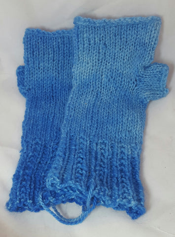 Fingerless Gloves (Blue)