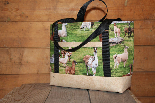 Alpaca Print Tote/Yarn Bag