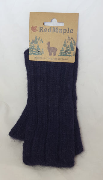 Fingerless Gloves - Indigo