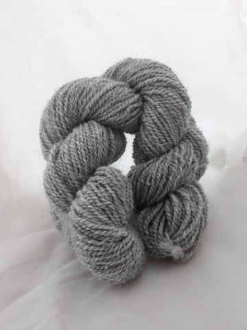 2 Ply Sport. 100% Light Gray Alpaca