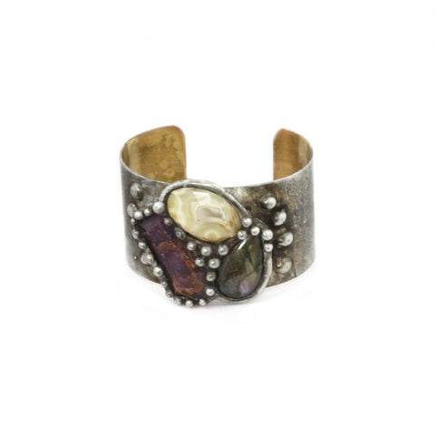 Vanessa Mooney Anarchy Silver Double Cuff