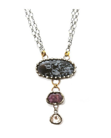 Mikal Winn One Of A Kind Ruby And Tanzanite Necklace