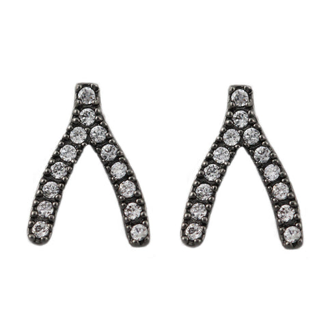 Mikal Winn Burgundy Crystal Earrings