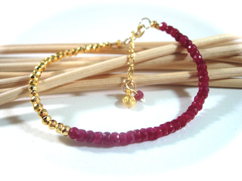 Golden Ruby Gemstone Bracelet
