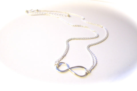Infinity Necklace - Sterling Silver