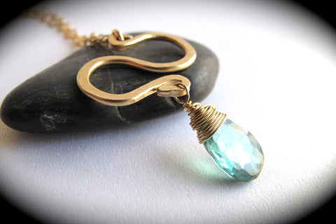 Serendipity Necklace with Faceted Gemstones - 14kt Gold Filled