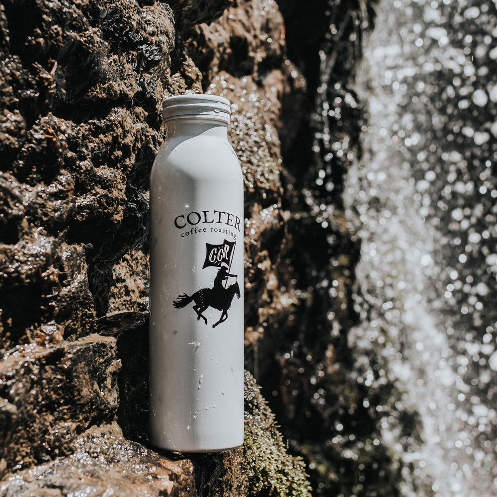 White Marble 20 oz Bottle