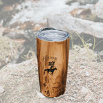 Wood Grain 20 oz Thermal Tumbler - Colter Coffee Roasting